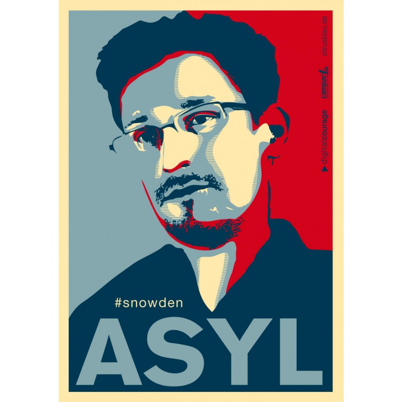 Aufkleber Asyl Für Snowden