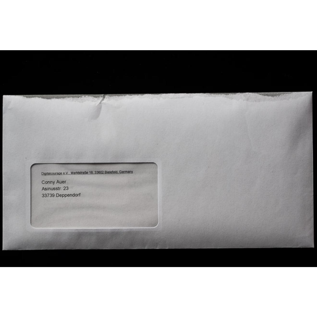 Briefumschlag Oops Geöffnet Din Lang Digitalcourage Ev