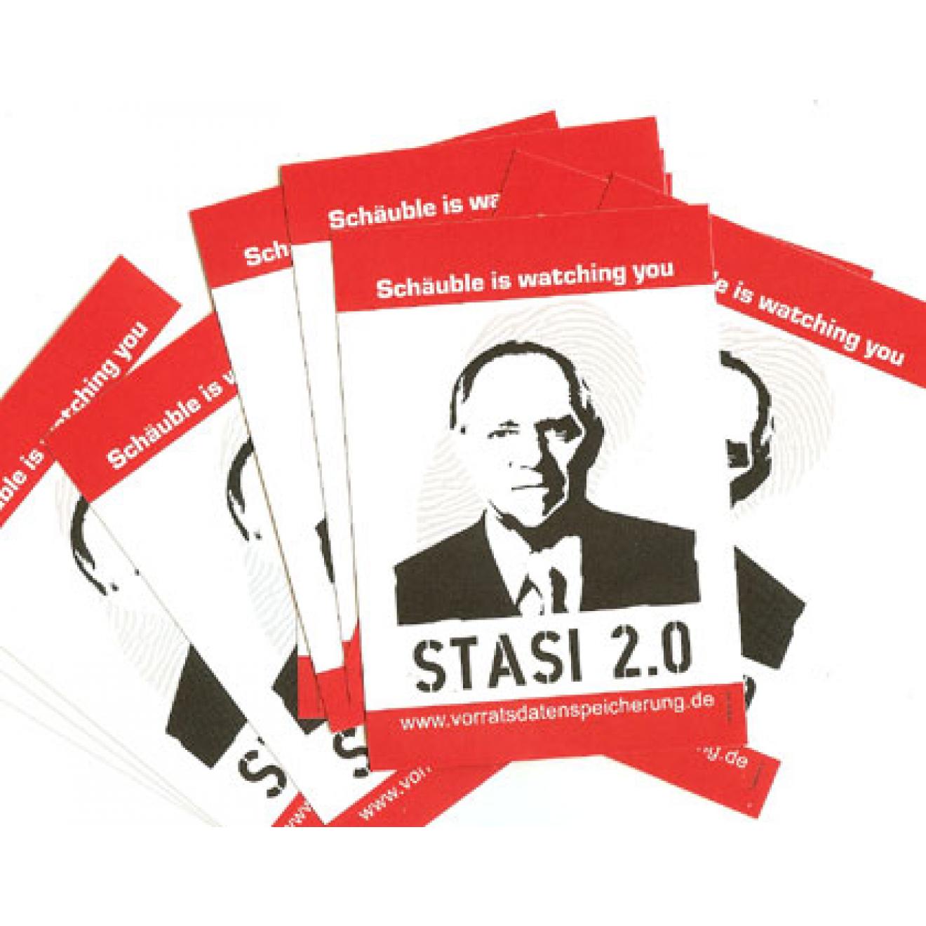 Aufkleber Stasi 20 Folie