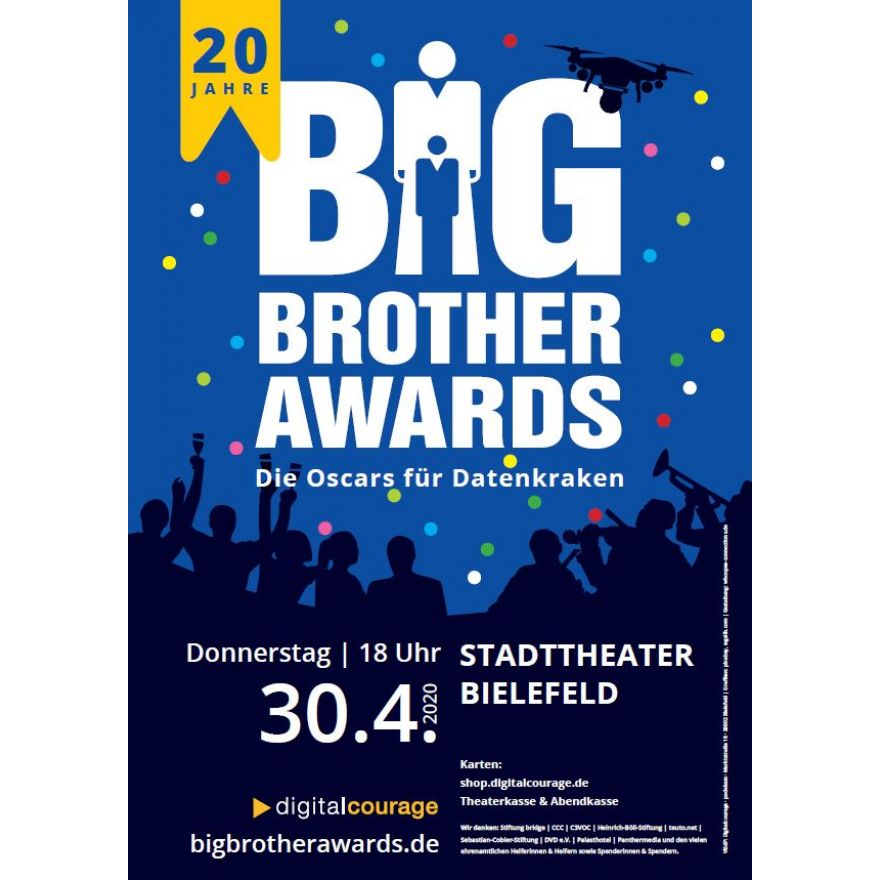 Plakat: Big Brother Awards 2020