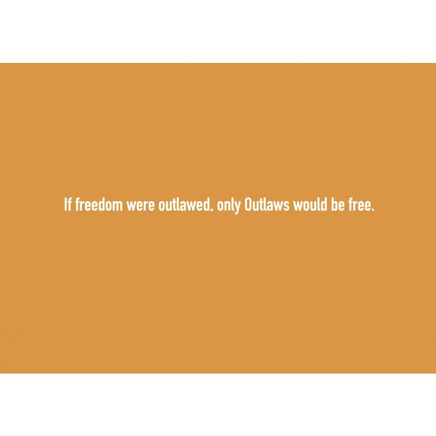 Text-Postkarte: If freedom were outlawed