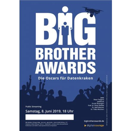 Plakat: Public Streaming Big Brother Awards 2019