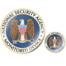 Sticker: NSA Monitored Device