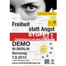 Aufkleber: Demonstration in Berlin 2013 (DIN A 6)