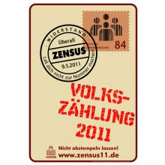 Plakat: Volkszählung 2011 (DIN A 3)