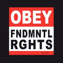 Aufkleber: OBEY FNDMNTL RGHTS (Obey Fundamental Rights)