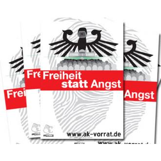 Plakat: Freiheit statt Angst (blanko)