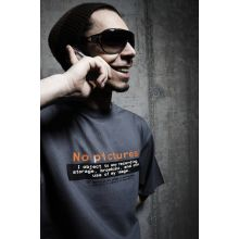 Girlie-Shirt: No Pictures (mit englischem Text)