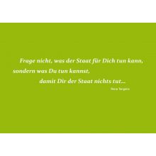 Text-Postkarte: Was der Staat tun kann