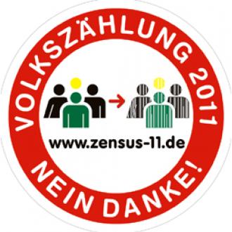 Aufkleber: Volkszählung Nein Danke