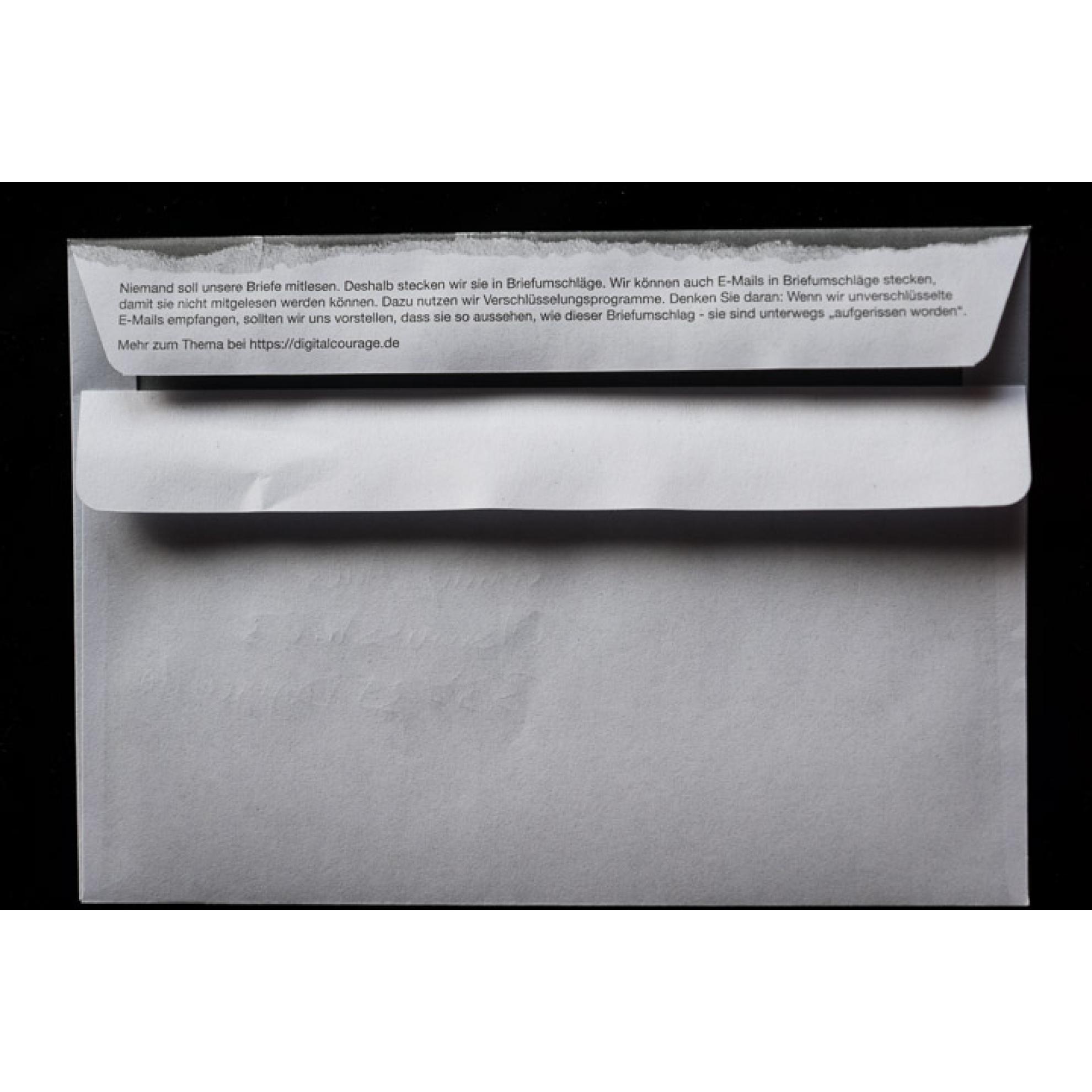 Briefumschlag Aufgerissen Din C6 Digitalcourage Ev